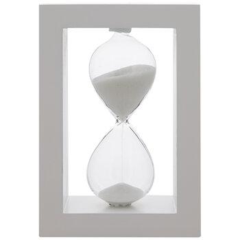 White Framed Glass Hourglass
