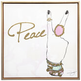 Peace Sign Canvas Wall Decor