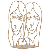 Gold Fashion Face Metal Organizer