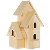 Duplex Wood Birdhouse