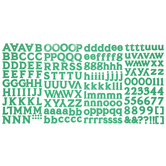 Christmas Green Old Style Alphabet Stickers