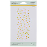 Scattered Hearts Hot Foil Glimmer Plate