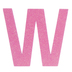 Glitter Wood Letter W - 4