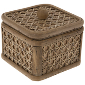 Rectangle Rattan Basket With Lid