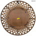 Brown Woven Wood Wall Mirror