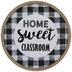 Home Sweet Classroom Buffalo Check Wood Decor