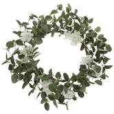 White Flowers & Eucalyptus Wreath