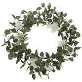White Flowers & Eucalyptus Wreath