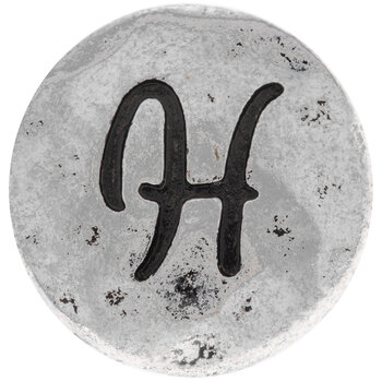 Hammered Letter Mini Snap Charm - H