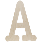 Typewriter Font Wood Letter Wall Decor - A