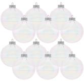 "Iridescent Glass Ball Ornaments - 2 5/8"""