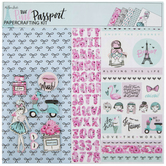 "The Pink Passport Scrapbook Kit - 12"" x 12"""