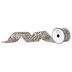 Leopard Print Wired Edge Ribbon - 2 1/2