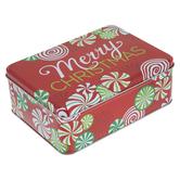 Merry Christmas Candy Swirl Tin