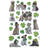 St Patrick's Day Dog Stickers