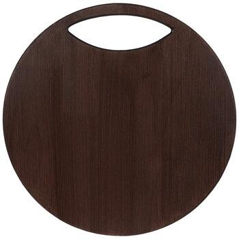 Brown Circle Charcuterie Board