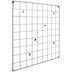 Black Square Metal Wire Memo Board