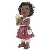 Ice Cream Girl Ornament