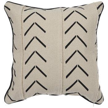Beige & Black Arrow Pillow Cover