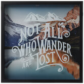 Not All Who Wander Framed Wall Decor