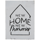 New Home New Memories Wood Decor
