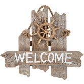 Nautical Welcome Wood Wall Decor
