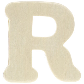 """Wood Letters R - 1 3/4"""""""