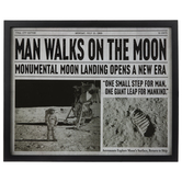 Man Walks On Moon Framed Wall Decor