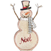 Noel Snowman With Metal Scarf