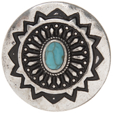 Turquoise Center Concho Snap Charm