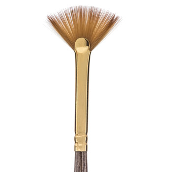 Golden Taklon Fan Paint Brush