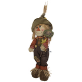 Boy Standing Scarecrow