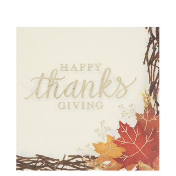 Happy Thanksgiving Napkins - Large