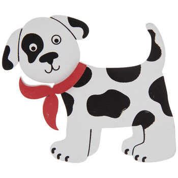 Spotted Puppy Painted Wood Shape