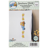 Sunflower Truck Embroidery Pillowcases Kit