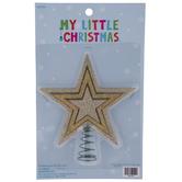 Champagne Glitter Star Mini Tree Topper