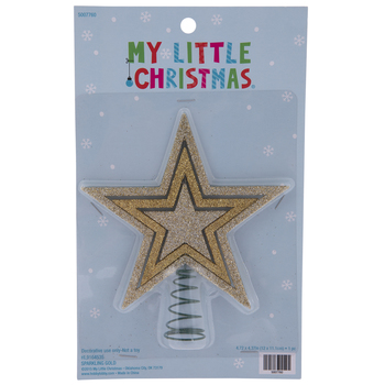 Glitter Star Mini Tree Topper