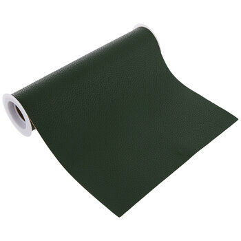 """Emerald Green Faux Leather Wide Ribbon - 8"""""""