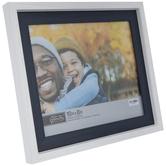 "White & Blue Wood Look Frame - 10"" x 8"""