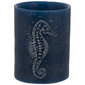 Blue Seahorse Pillar LED Candle