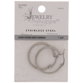 Stainless Steel Round Hoop Earrings