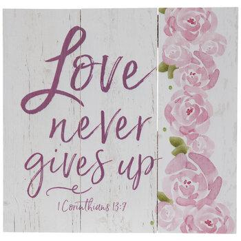 1 Corinthians 13:7 Wood Wall Decor