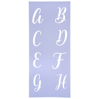 "Script Uppercase Letter Alphabet Stencil - 3"""
