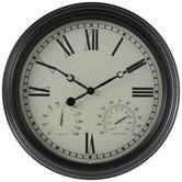 Black & Cream Outdoor Wall Clock