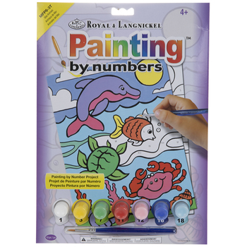 Sea Animals Paint By Number Kit