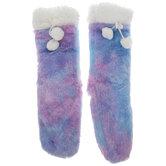 Tie Dye Sherpa Lined Slipper Socks