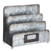 Galvanized Metal File Organizer