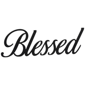 Black Blessed Metal Wall Decor