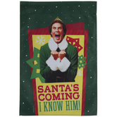 Santa's Coming I Know Him Garden Flag