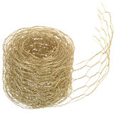 Gold Chicken Wire Metal Ribbon - 2 1/4""